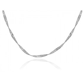 0.2mm Singapore Chain in 9ct White Gold