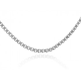 0.67mm Box Chain in 9ct White Gold