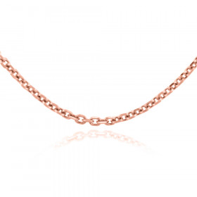 1.38mm Rolo Chain in 9ct Rose Gold