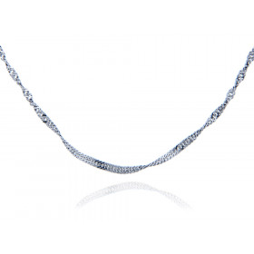1.52mm Singapore Chain in Sterling Silver