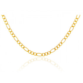 1.64mm Figaro Chain in 9ct Gold