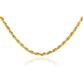 1mm Rope Chain in 9ct Gold