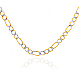 2.2mm Figaro Chain in 9ct Two-Tone Gold