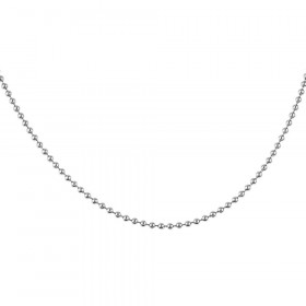 2.2mm Italian Bead Link Chain in Sterling Silver