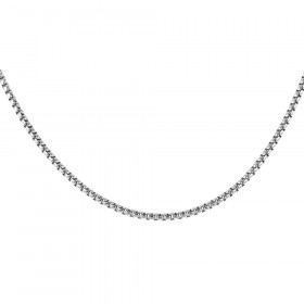 2.4mm Italian Box Link Chain in Sterling Silver