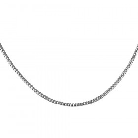 2.5mm Italian Flat Curb Cuban Link Chain in Sterling Silver