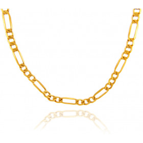 4.92mm Figaro Chain in 9ct Gold