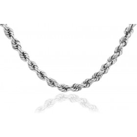 5mm Rope Chain in 9ct White Gold