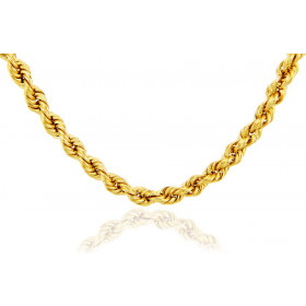 6mm Ultra Light Rope Chain in 9ct Gold