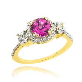 Alexandrite and Diamond Engagement Ring in 9ct Gold