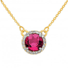 1.0ct Alexandrite and Diamond Pendant Necklace in 9ct Gold