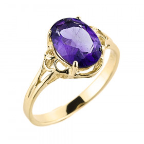 Amethyst Ring in 9ct Gold