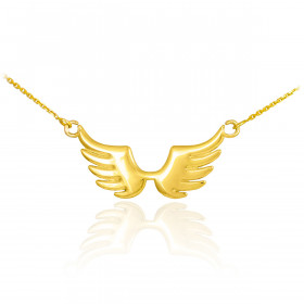 Angel Wings Pendant Necklace in 9ct Gold