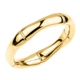 Bamboo Band Thumb Ring in 9ct Gold