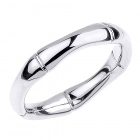 Bamboo Band Thumb Ring in 9ct White Gold