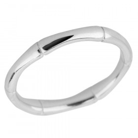 Bamboo Thumb Ring in Sterling Silver
