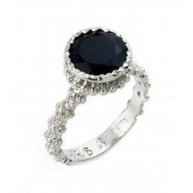 3.54ct Black Onyx Ring in Sterling Silver