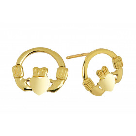 Bold Claddagh Earrings in 9ct Gold