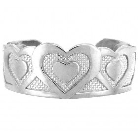Bold Heart Toe Ring in 9ct White Gold