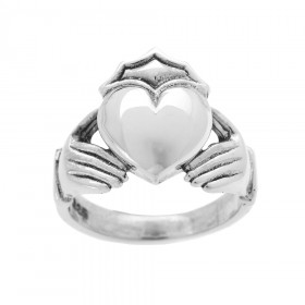 Bold Large Claddagh Ring in Sterling Silver