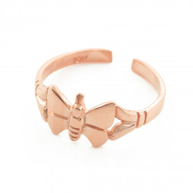 Butterfly Toe Ring in 9ct Rose Gold