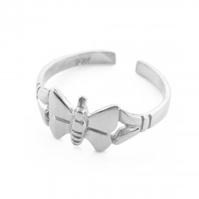 Butterfly Toe Ring in 9ct White Gold