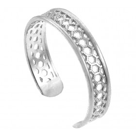 Chainmail Toe Ring in 9ct White Gold