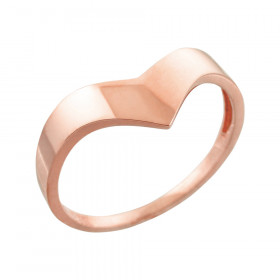 Chevron Ring in 9ct Rose Gold