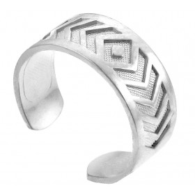 Chevron Toe Ring in 9ct White Gold
