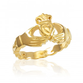 Claddagh Engagement Ring in 9ct Gold