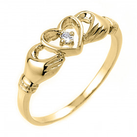0.02ct Claddagh Ring in 9ct Gold