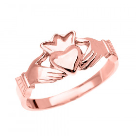 Claddagh Ring in 9ct Rose Gold