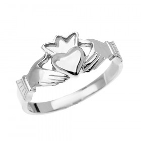 Claddagh Ring in 9ct White Gold