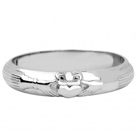Claddagh Wedding Ring in Sterling Silver