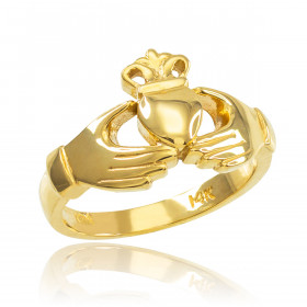 Classic Claddagh Engagement Ring in 9ct Gold