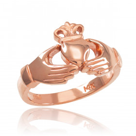 Classic Claddagh Engagement Ring in 9ct Rose Gold