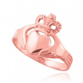 Classic Claddagh Ring in 9ct Rose Gold