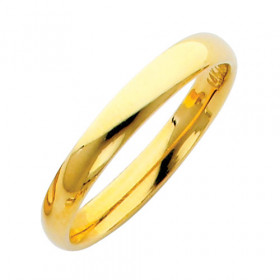 Classic Comfort Fit Plain Wedding Ring in 9ct Gold