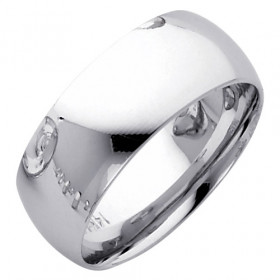 Classic Comfort Fit Plain Wedding Ring in 9ct White Gold
