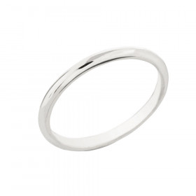 Classic Plain Wedding Ring in 9ct White Gold