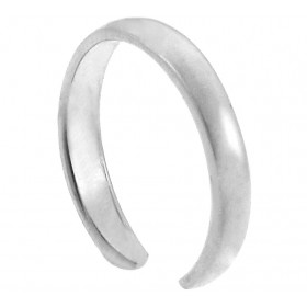 Classic Toe Ring in 9ct White Gold