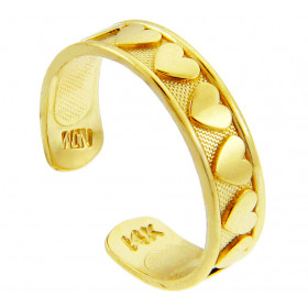 Classy Heart Toe Ring in 9ct Gold