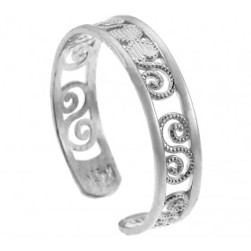 Classy Toe Ring in 9ct White Gold