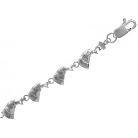 Cleopatra Bracelet in 9ct White Gold