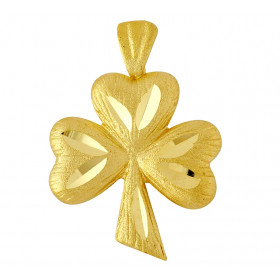 Clover Charm Pendant Necklace in 9ct Gold