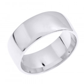 Comfort Fit Classic Plain Wedding Ring in 9ct White Gold
