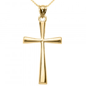 Cross Pendant Necklace in 9ct Gold