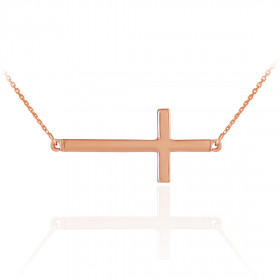 Cross Pendant Necklace in 9ct Rose Gold