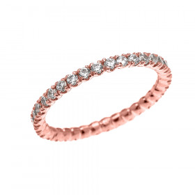 CZ Eternity Wedding Ring in 9ct Rose Gold