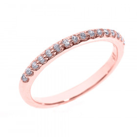 CZ Half Eternity Wedding Ring in 9ct Rose Gold